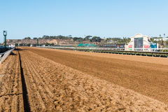 Tote Board and Dirt Race Track in Del Mar, California Stock Photos