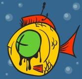 Tote Fisch-Graffiti Stockfotografie