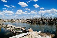 Tote Stadt - Epecuen, Argentinien. Lizenzfreies Stockfoto