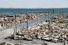 Tote Stadt - Epecuen, Argentinien. Stockfotografie