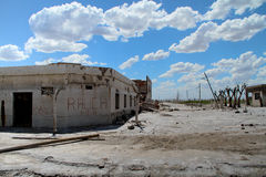 Tote Stadt - Epecuen, Argentinien Lizenzfreies Stockfoto