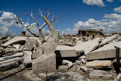 Tote Stadt - Epecuen, Argentinien Stockfoto