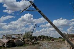 Tote Stadt - Epecuen, Argentinien Stockbilder