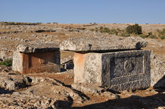 Tote Stadt von Serjilla, Syrien Lizenzfreie Stockfotos