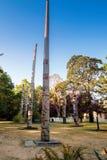 Totemów słupy w Wiktoria BC Fotografia Stock