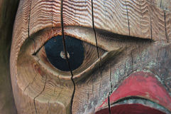 Totem. Eye of the totem Stock Photos