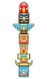 Totem. Vector illustration, native American craftsmanship Stock Images