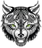 Totem animal .Wolf tattoo Stock Photo