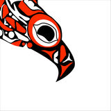 Totem bird indigenous art stylization Stock Photos
