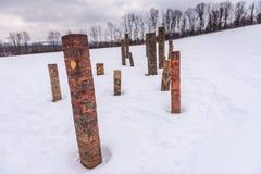 Totem - collina di pietra Art Park - Cazenovia, NY della cava Immagine Stock Libera da Diritti