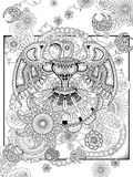 Totem coloring page Royalty Free Stock Photos