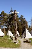 Totem con la tenda Fotografia Stock Libera da Diritti