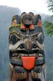 Totem dans ketchikan Photographie stock