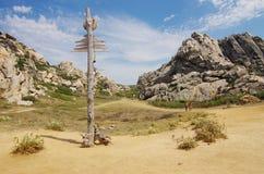 Totem dans la vallée de lune Photo libre de droits