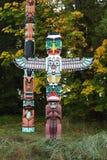 Totem de stationnement de Stanley, Vancouver Images libres de droits