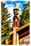 Totem de Tlingit Photographie stock