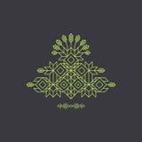 totem Decoratieve Lijn Art Element Geometrische Uitstekende Stijl Stock Fotografie