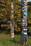 Totem. Definition, a natural object or an animate being, as an animal or bird, assumed as the emblem of a clan, family, or group Royalty Free Stock Photo