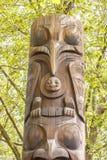Totem del Inuit nella sosta di Seattle Fotografie Stock Libere da Diritti