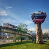 Totem del trasporto  Vancouver, Canada immagini stock libere da diritti