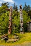 Totem des amerikanischen Ureinwohners Stockfotos