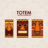 Totem design Royalty Free Stock Image