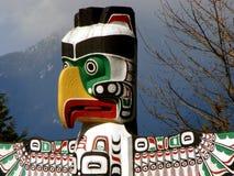 Totem di Vancouver, BC, il Canada Fotografie Stock Libere da Diritti