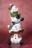 Totem do boneco de neve Imagens de Stock