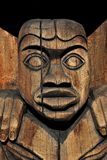 Totem in Duncan, Vancouver Island, BC, Canada Stock Image