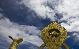 Totem em tibet Imagens de Stock Royalty Free
