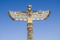 totem för alaska polserie Arkivbilder