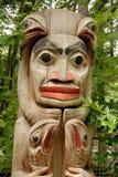 totem för alberta Kanada detaljpol Royaltyfri Foto