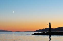 totem för halvmånformigmoonpol Royaltyfri Fotografi