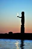 totem för halvmånformigmoonpol Arkivbilder