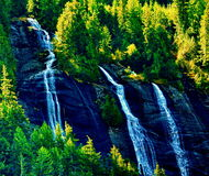 Alaskan Waterfall Royalty Free Stock Photography