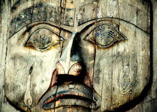 Totem Face Stock Image
