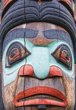 Totem Face Royalty Free Stock Photography
