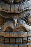 Totem havaiano pólo de Tiki Fotografia de Stock