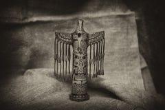 Totem i form av en fågel Royaltyfria Foton