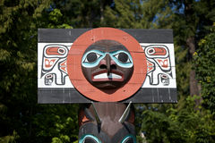 Totem of Indian Culture in Vancouver. Totem pole of Indian Culture in Vancouver Royalty Free Stock Images