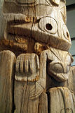 Totem indiano da costa oeste, UBC, Vancôver BC Imagem de Stock