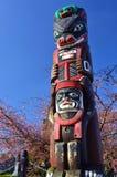 Totem indigeni in Victoria Fotografie Stock Libere da Diritti