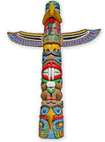 Totem isolated. Royalty Free Stock Photography