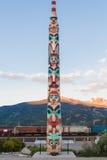 Totem in Jaspis, Canada Stock Foto