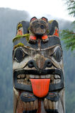 Totem in ketchikan Stock Photography