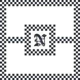 Totem line native art Royalty Free Stock Image