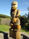Totem maori sulla spiaggia di Karekare Fotografia Stock Libera da Diritti