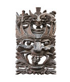 Totem mask, isolated. Ancient Indiana wood mask, isolated Royalty Free Stock Image