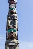 Totem med gröna ögon Arkivfoto