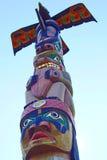 Totem nativo canadense Fotos de Stock